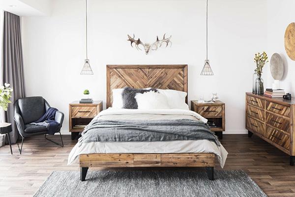 طراحی دکوراسیون اتاق خواب به سبک روستیک مدرن