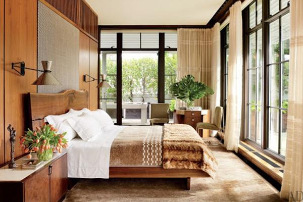 دکوراسیون اتاق خواب روستیک مدرن و زیبا