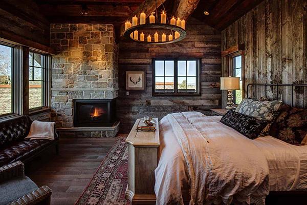 چیدمان اتاق خواب به سبک روستیک