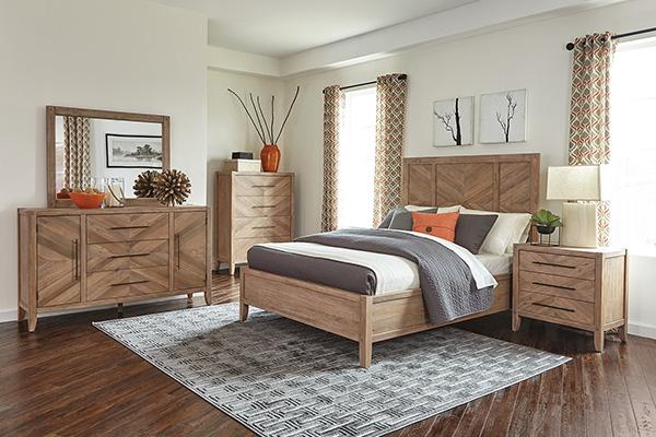 سرویس خواب چوبی در دکوراسیون اتاق خواب روستیک