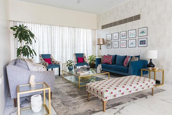 دیزاین اتاق پذیرایی به سبک مینیمال